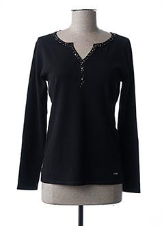 T-shirt manches longues noir FELINO pour femme