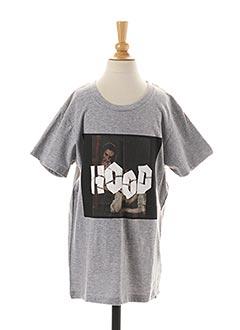 T-shirt manches longues gris ELEVEN PARIS pour enfant