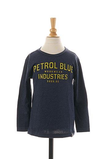 T-shirt manches longues bleu PETROL INDUSTRIES pour garçon
