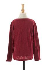 T-shirt manches longues rouge ELEVEN PARIS pour garçon seconde vue