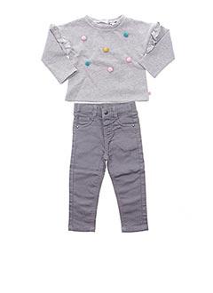 Top/pantalon gris 3 POMMES pour fille