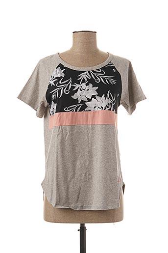 T-shirt manches courtes gris ROXY pour femme