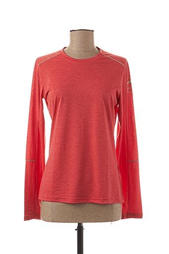 T-shirt manches longues orange ASTORE pour femme