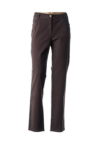 Pantalon casual marron EVER EASY BY JAC JAC pour femme