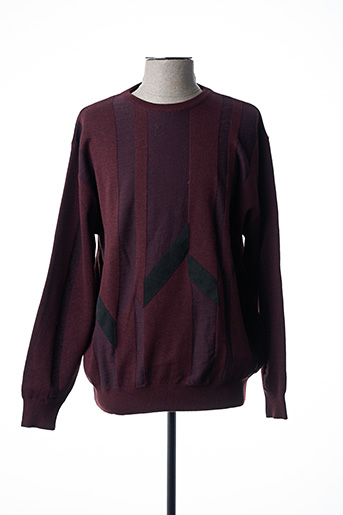 Pull col rond rouge BERAC pour homme