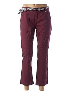 Pantalon 7/8 rouge MORGAN pour femme