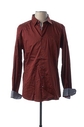 Chemise manches longues marron NO EXCESS pour homme