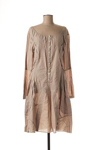 Robe mi-longue beige AKELA KEY pour femme