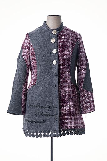 Manteau long gris ALL BEAUTIFUL pour femme