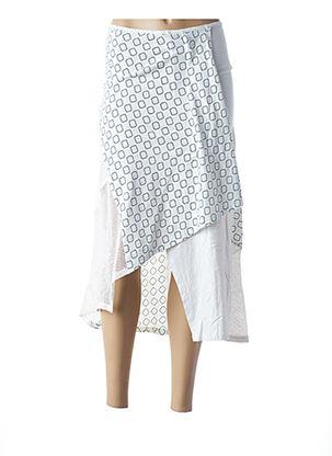 Jupe mi-longue blanc BAMBOO'S pour femme