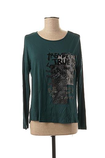 T-shirt manches longues bleu ELEONORA AMADEI pour femme