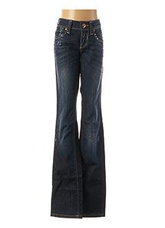 Jeans coupe droite bleu ONLY pour femme
