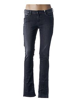 Jeans coupe slim gris TEDDY SMITH pour femme