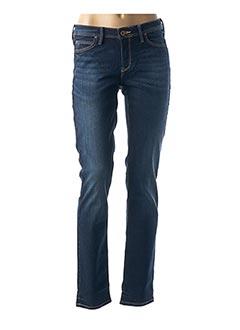 Jeans coupe droite bleu LEE pour femme
