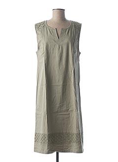 Robe mi-longue vert CONCEPT K pour femme