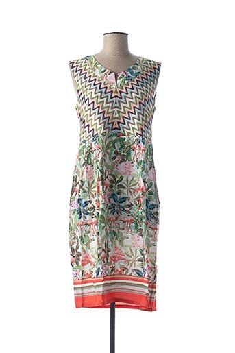 Robe mi-longue vert CONCEPT UK pour femme