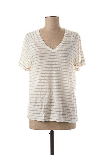 T-shirt manches courtes beige EKYOG pour femme