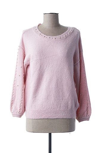 Pull col rond rose COLYNN pour femme