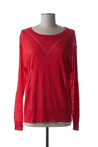 Pull col rond rouge EKYOG pour femme