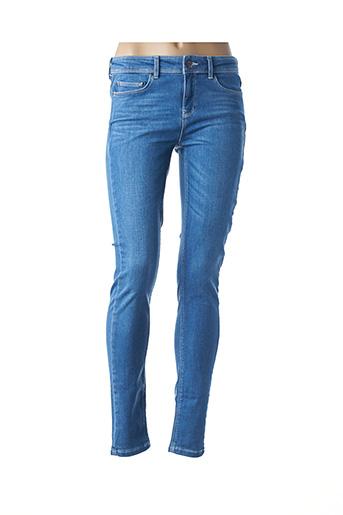Jeans coupe slim bleu EKYOG pour femme