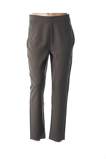 Pantalon 7/8 vert COTTON BROTHERS pour femme