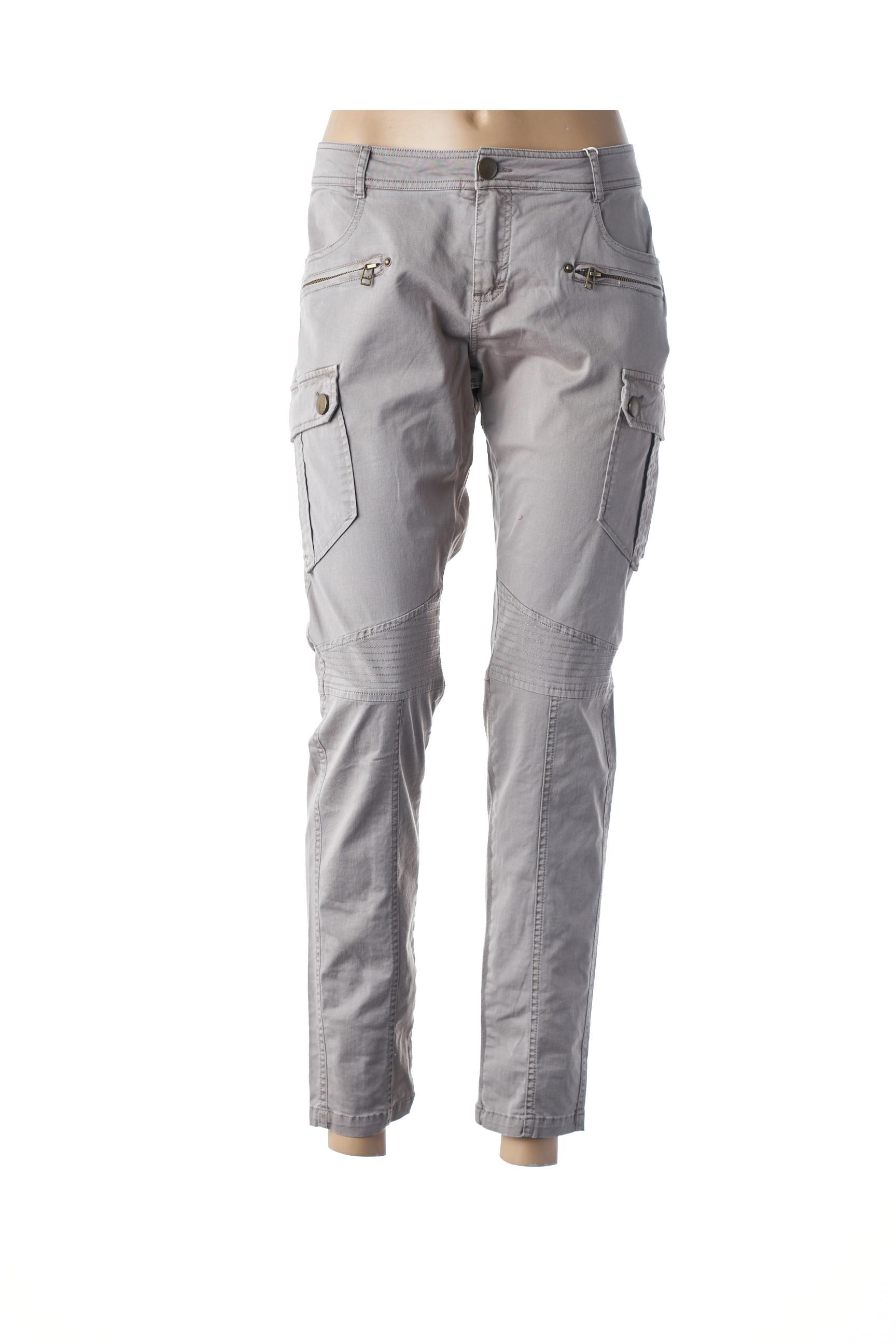 Pantalon casual femme Cream gris taille : 42 49 FR (FR)