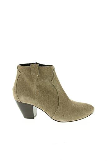 Bottines/Boots beige GIANCARLO pour femme