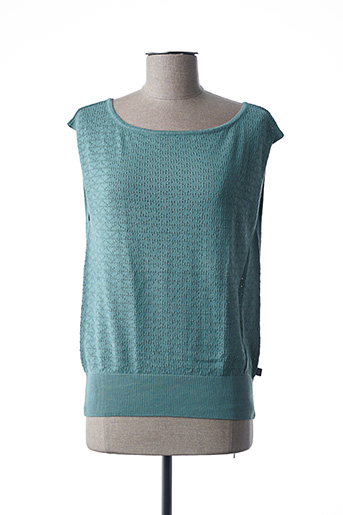 Pull col rond vert FROY & DIND pour femme