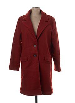 Manteau long orange GARANCE pour femme
