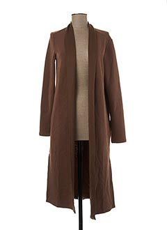 Veste casual marron YAYA pour femme