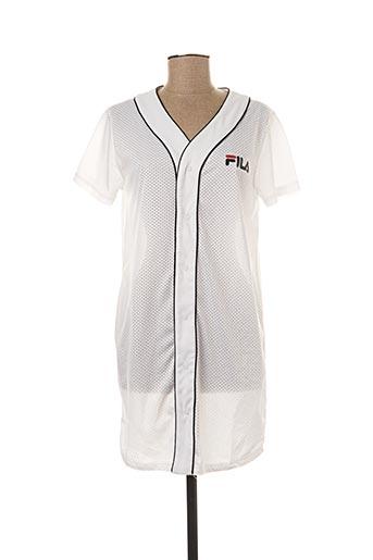 Robe courte blanc FILA pour femme