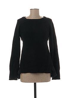 Pull tunique noir FRACOMINA pour femme