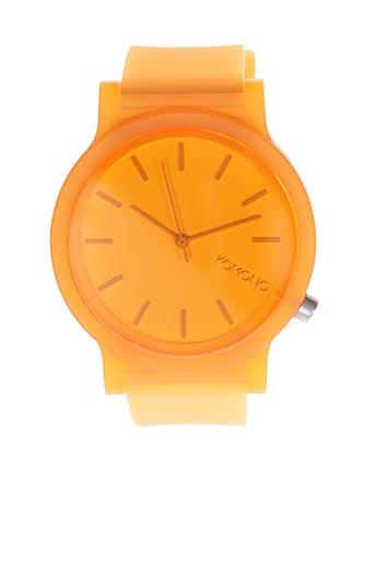 Montre orange KOMONO pour homme