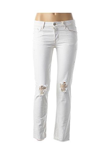 Jeans skinny blanc CIMARRON pour femme