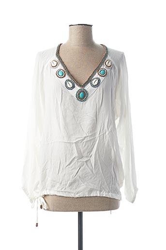 Tunique manches longues blanc HOT LAVA pour femme