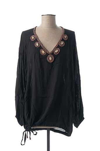 Tunique manches longues noir HOT LAVA pour femme