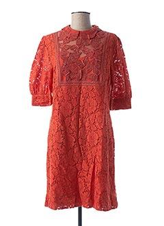 Robe mi-longue orange ESSENTIEL ANTWERP pour femme