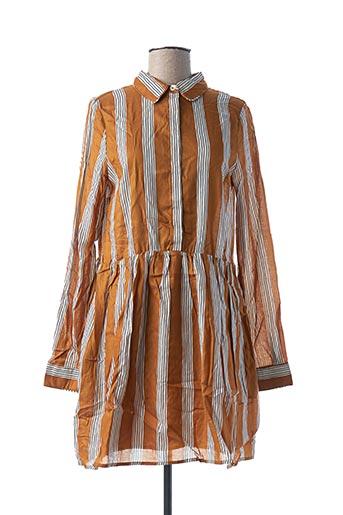 Robe courte marron FRNCH pour femme