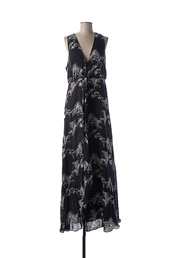 Robe longue noir IDANO pour femme