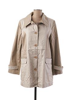 Manteau long beige PAUL MATIS pour femme