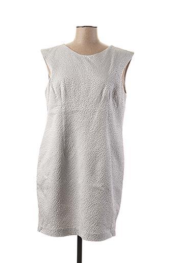 Robe mi-longue gris PAUL BRIAL pour femme