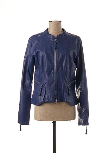 Veste simili cuir violet BEAUMONT pour femme