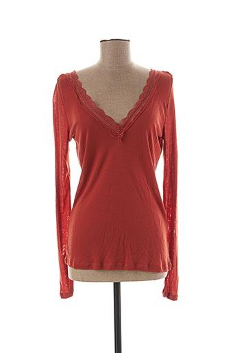 T-shirt manches longues orange VILA pour femme