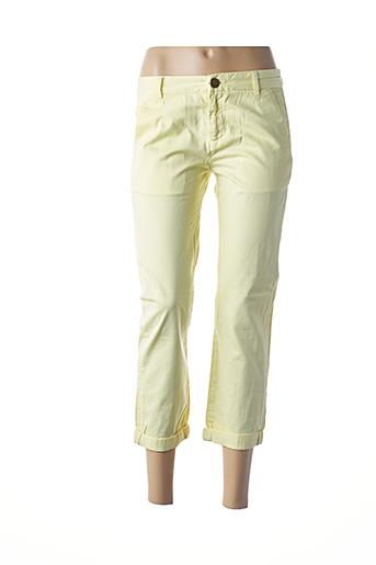 Pantalon 7/8 jaune CURRENTE/ELLIOTT pour femme