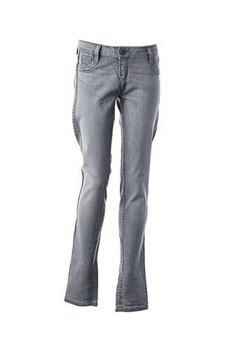 Pantalon casual gris BLEULAB pour femme