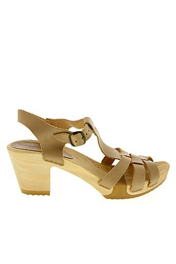 Sandales/Nu pieds beige BOSABO pour femme