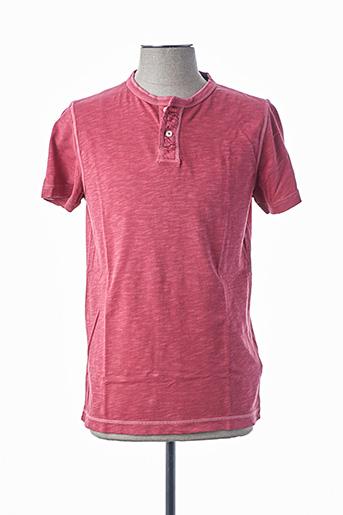 T-shirt manches courtes rouge TOMMY HILFIGER pour homme