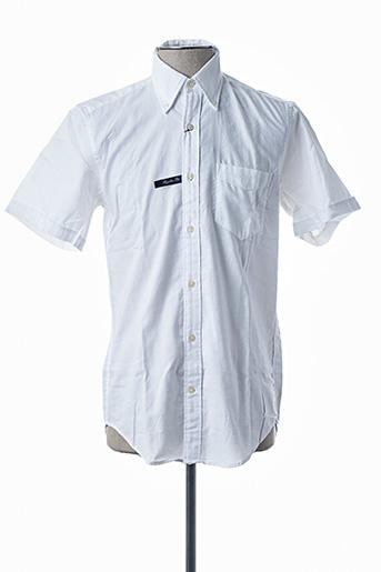 Chemise manches courtes blanc GANT pour homme