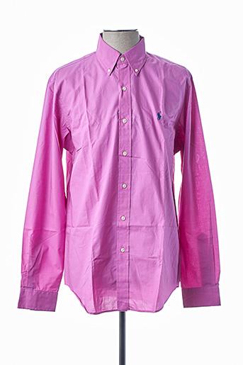 Chemise manches longues violet RALPH LAUREN pour homme