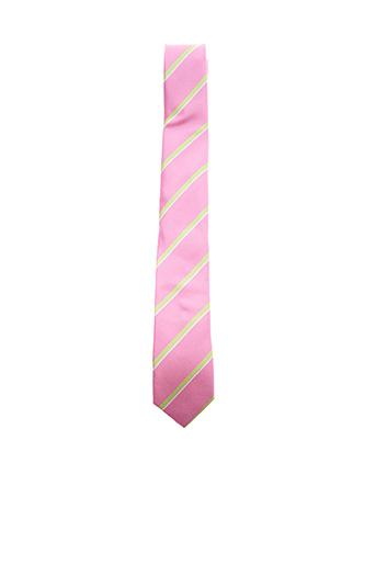 Cravate rose VICOMTE ARTHUR pour homme